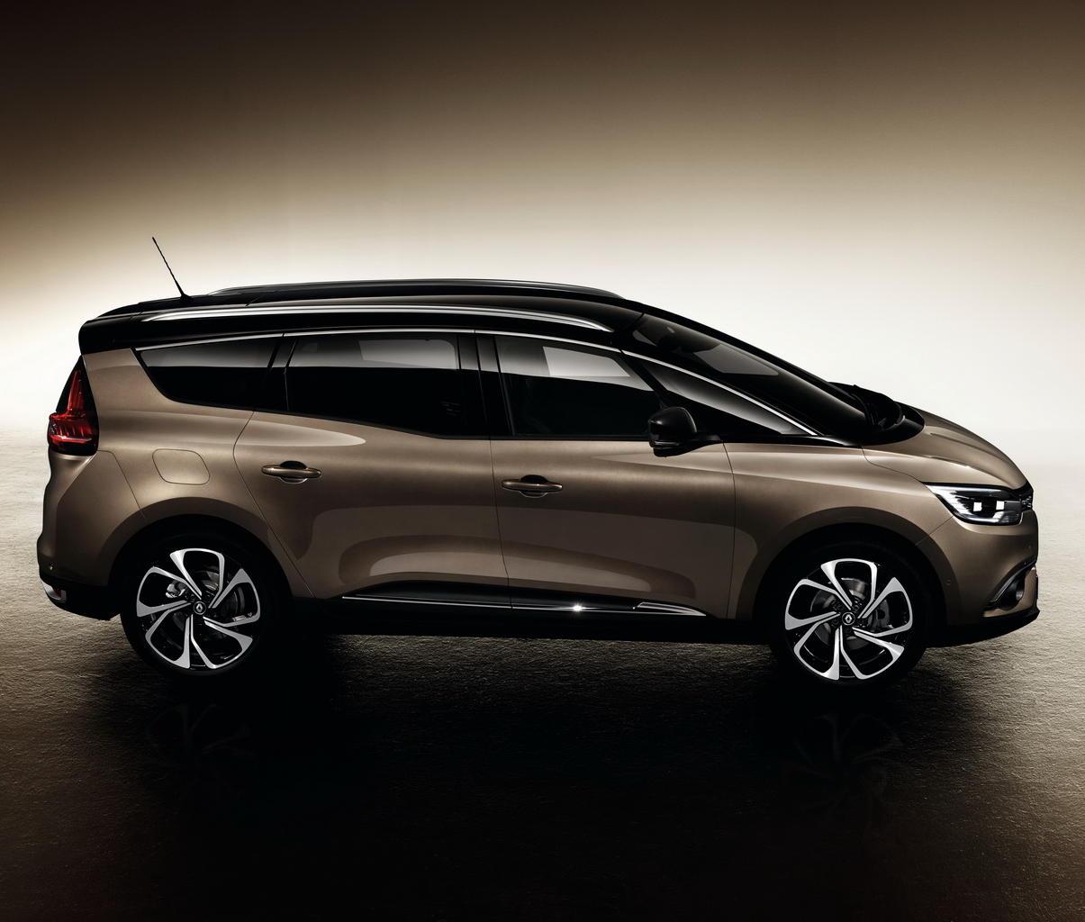 новый Renault Grand Scenic 2017 сбоку