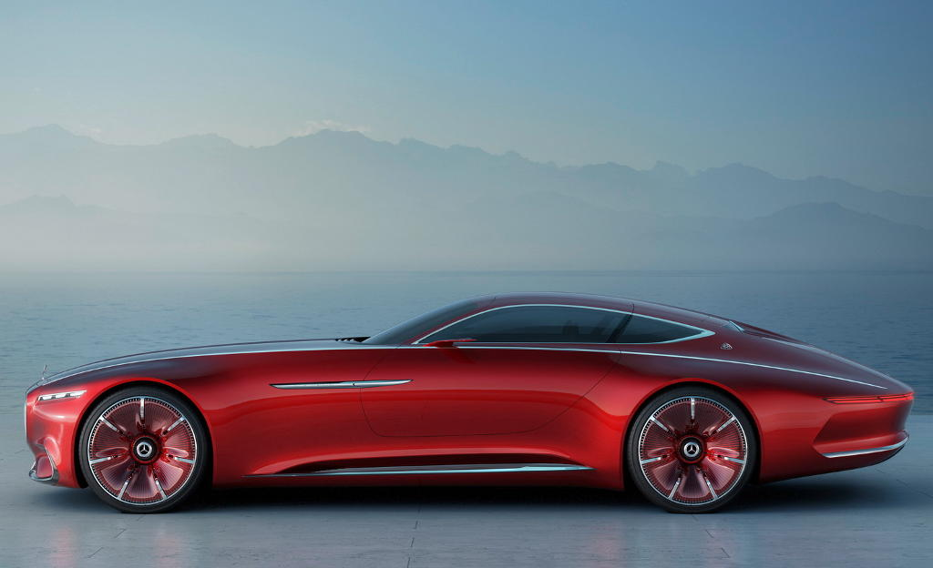 прототип Vision Mercedes-Maybach 6 сбоку
