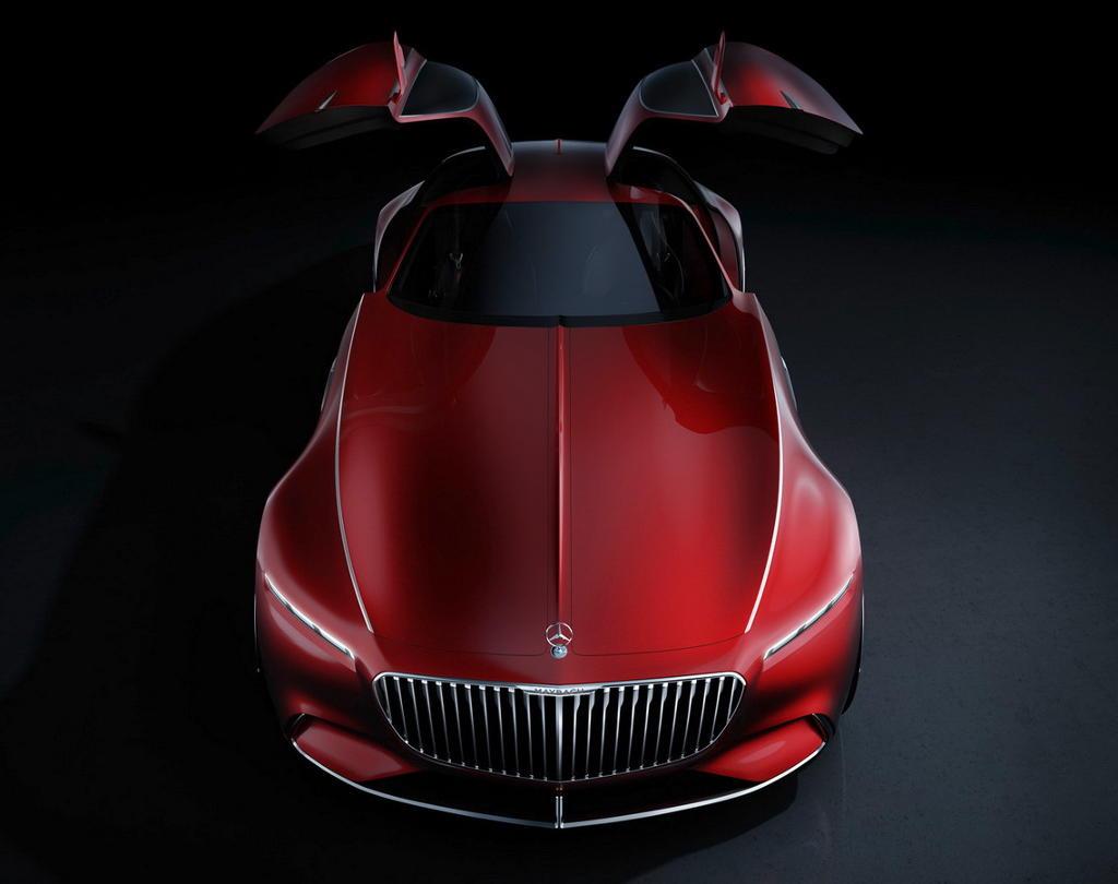 решетка, фары, бампер Vision Mercedes-Maybach 6