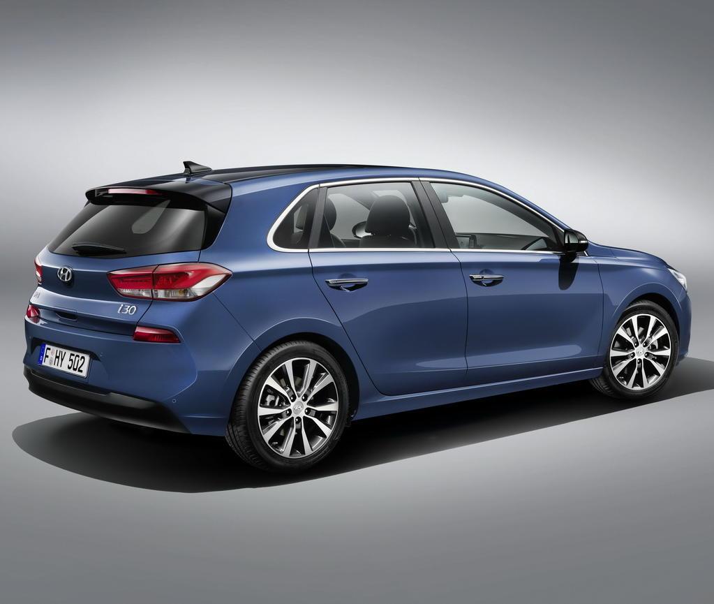 задняя часть Hyundai i30 2017 Хетчбэк