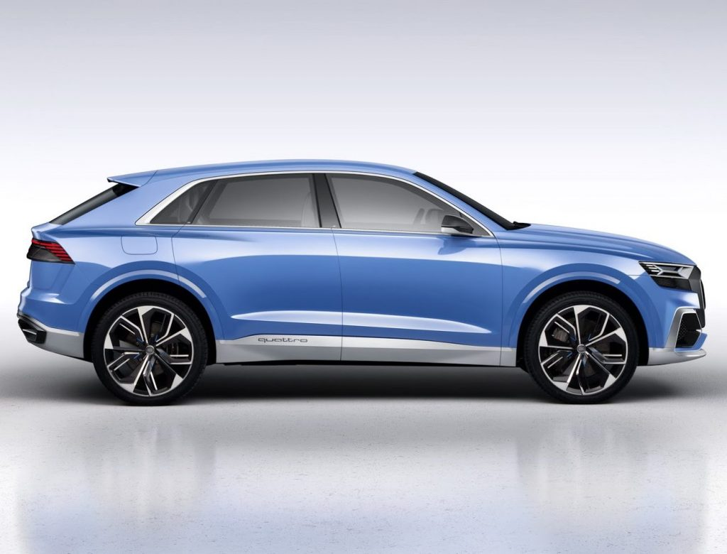 концепт Audi Q8 2017 сбоку