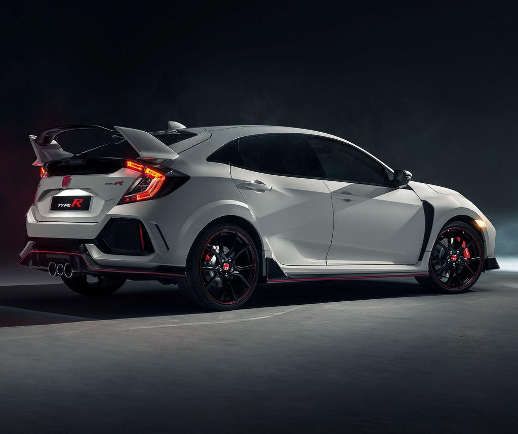 новая Honda Civic Type R 2018 сбоку