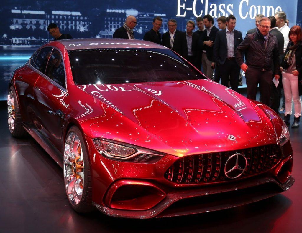 решетка, фары, бампер Mercedes-AMG GT Концепт 2017
