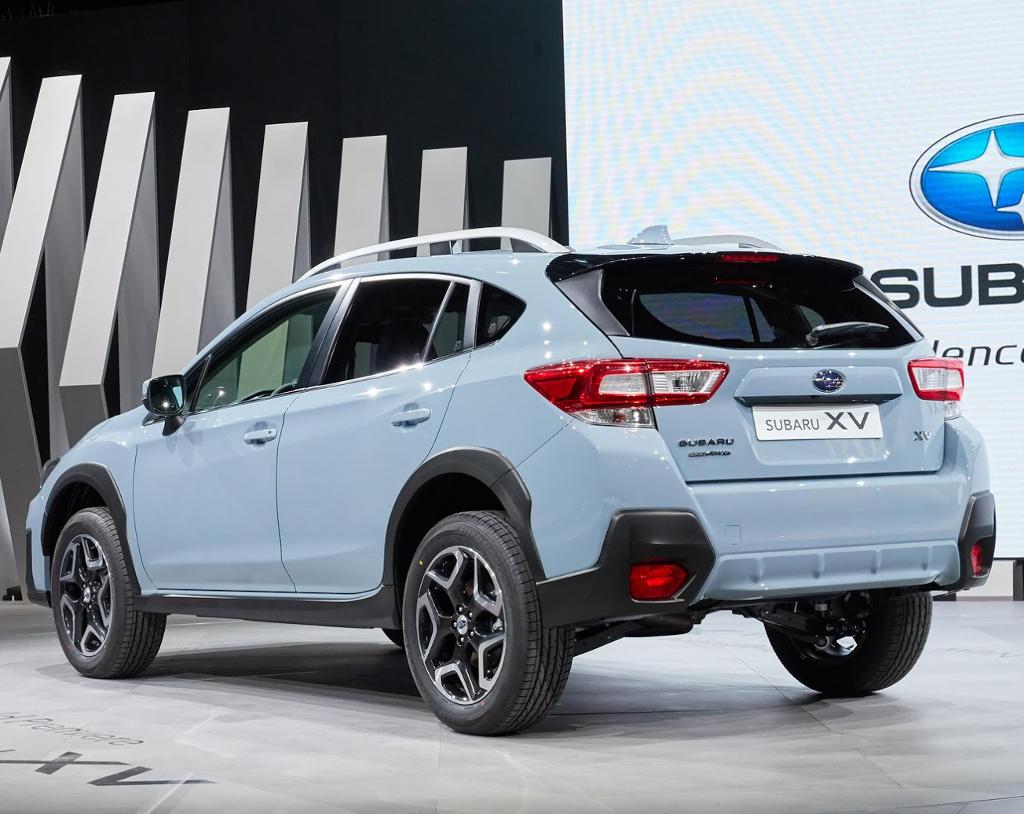 задняя часть Subaru XV 2018 года