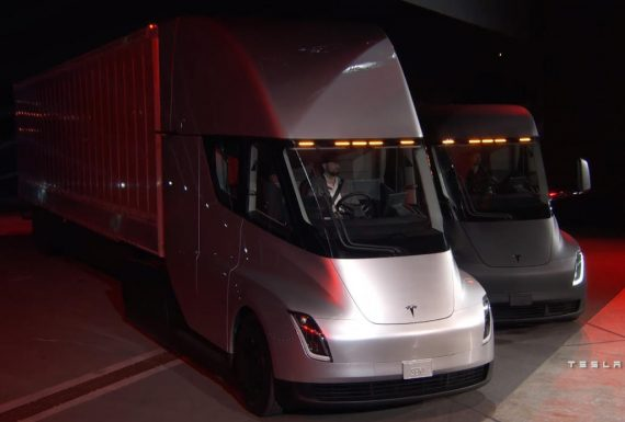 Фото электрогрузовика Tesla Semi. https://autompv.ru/
