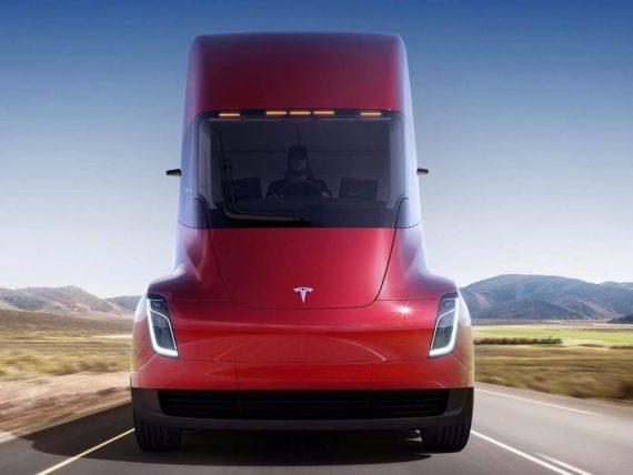 фары электрофуры Tesla Semi