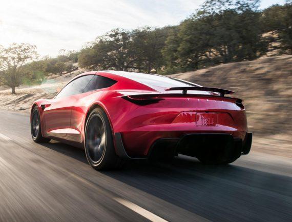 задние фонари Tesla Roadster 2020 фото