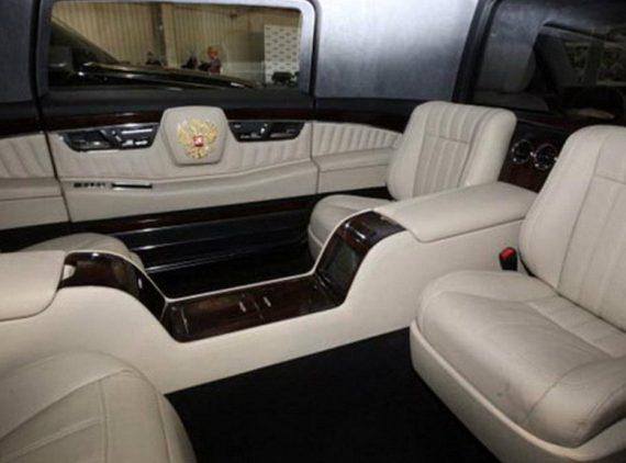 интерьер Лимузин президента ЕМП-41231SB Aurus фото