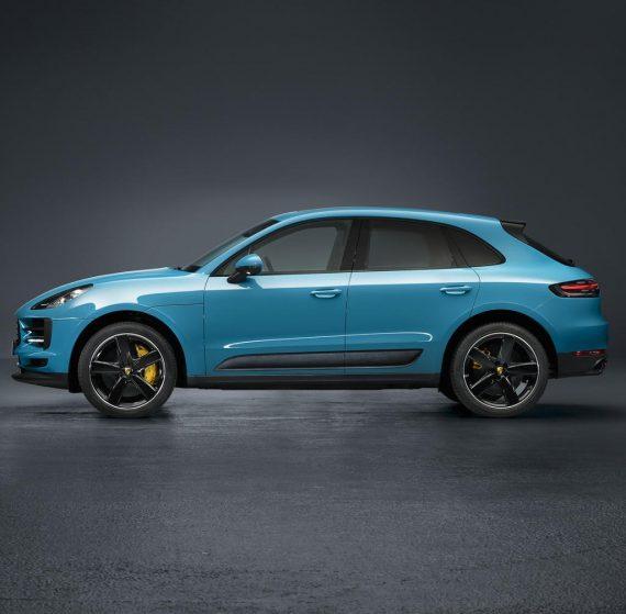 новый Porsche Macan 2019 сбоку