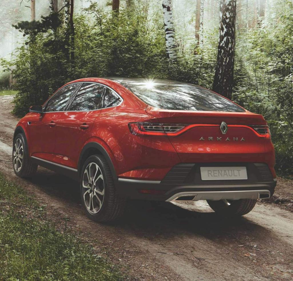 задние фонари Renault Arkana 2018 – 2019