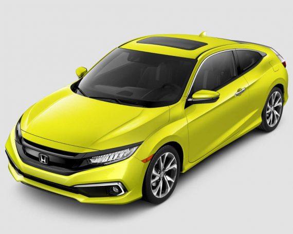 новое купе Honda Civic 2019 фото