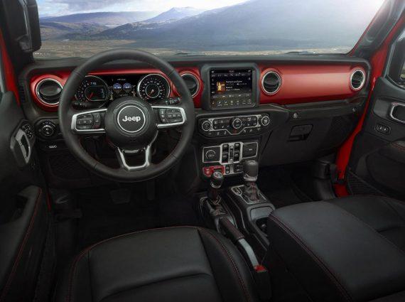 салон Jeep Gladiator 2019 -2020 фото