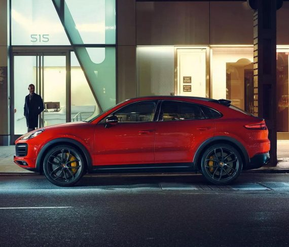 новый Porsche Cayenne Coupe 2020 сбоку
