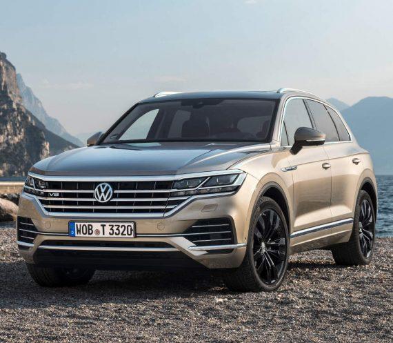 решетка, бампер, фары Volkswagen Touareg 2020