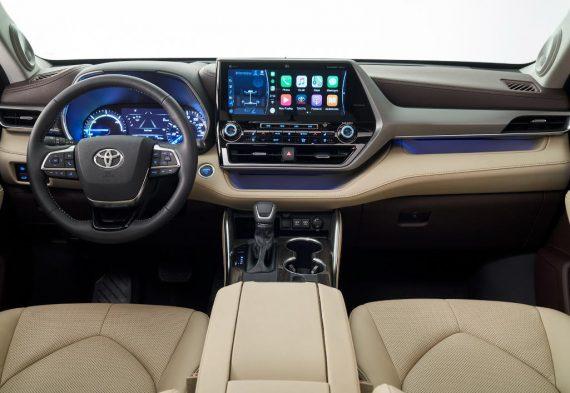 салон Тойота Хайлендер 2020. Новый кузов. Фото