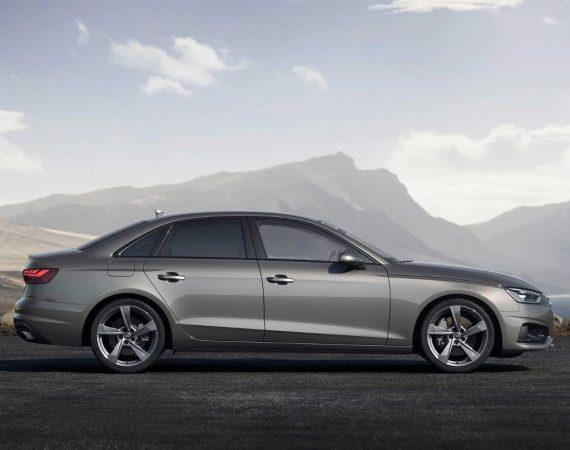 новый Audi A4 2020 сбоку
