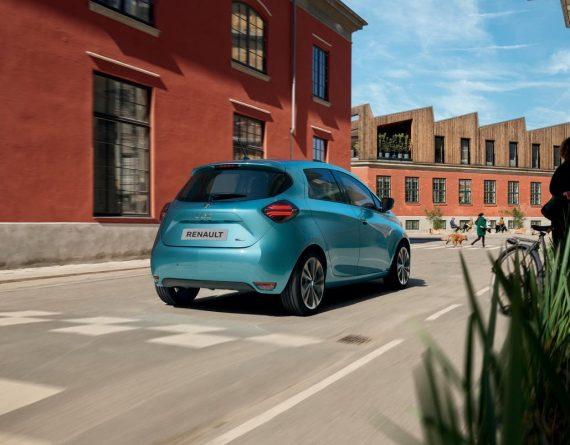 задняя часть Renault Zoe 2020
