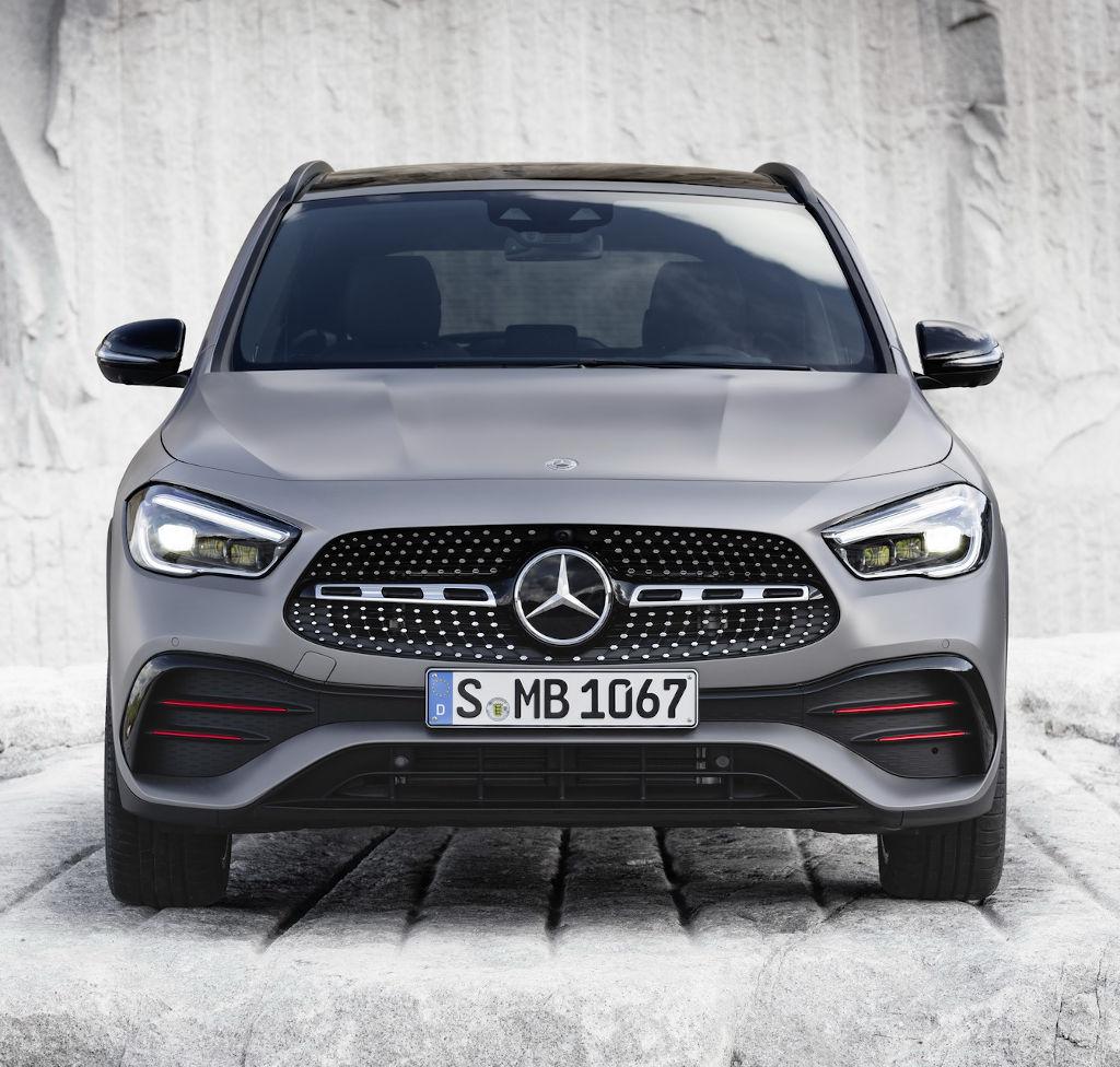решетка, бампер, фары Mercedes GLA 2020