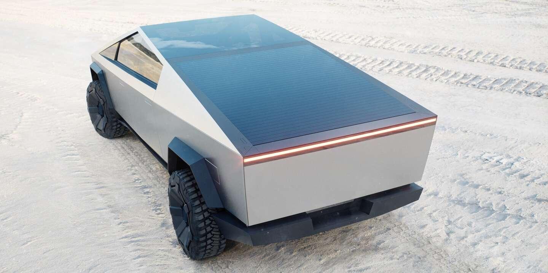 солнечная батарея Тесла Кибертрак