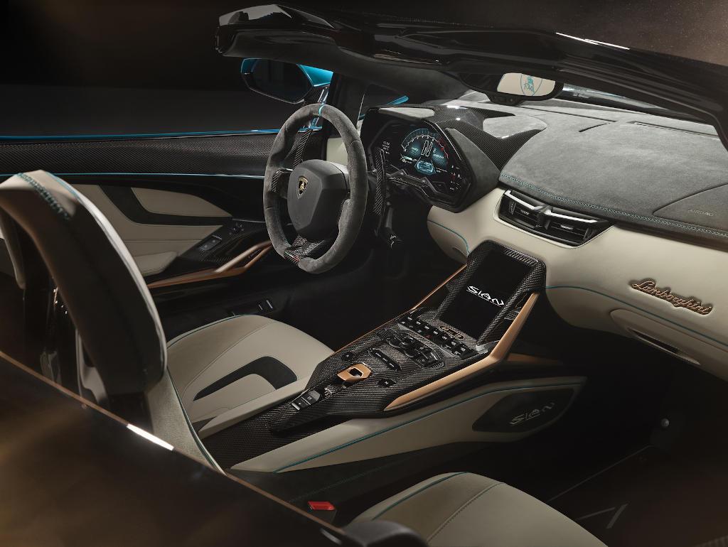 салон Lamborghini Sian 2021