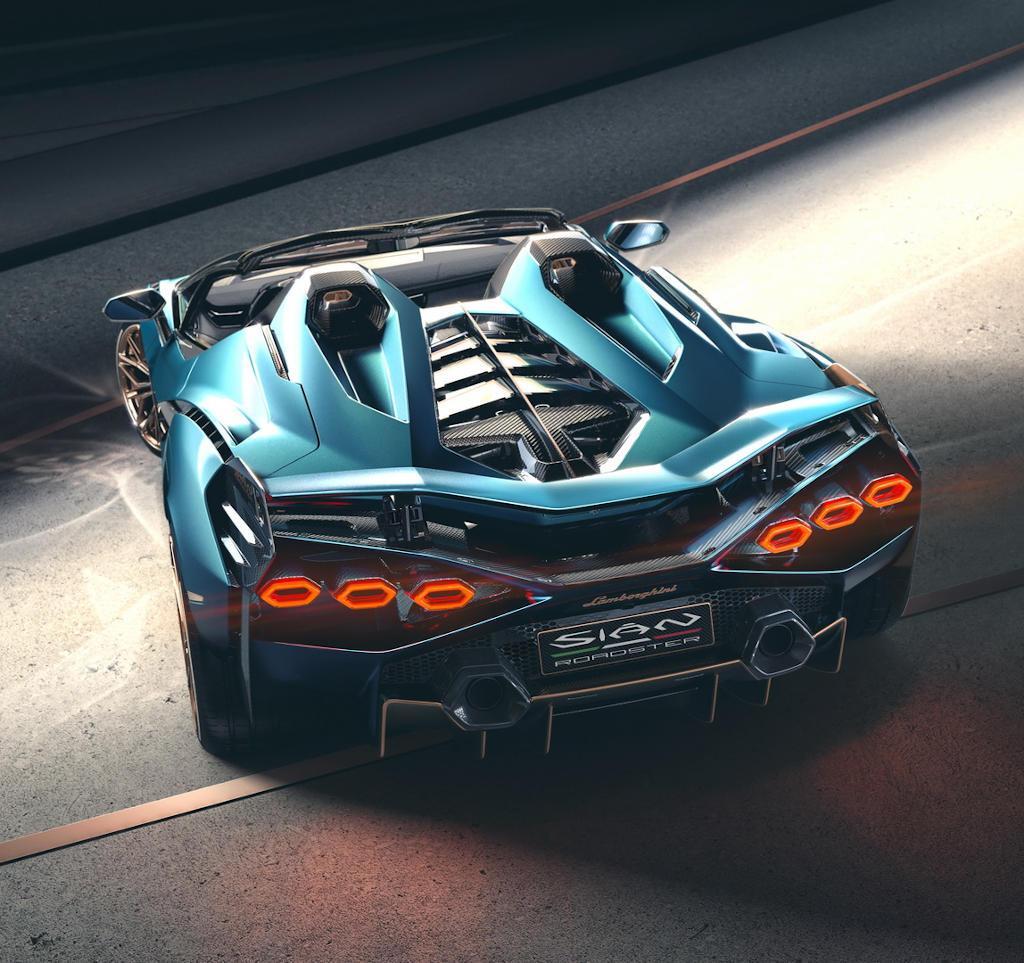 задние фонари Lamborghini Sian 2021