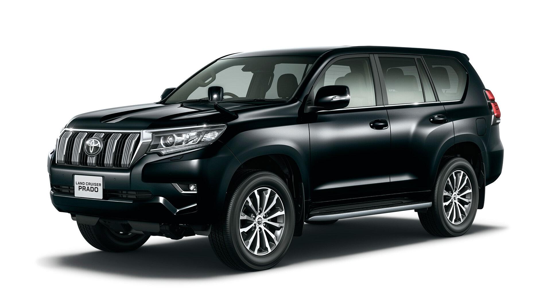 черный Toyota Land Cruiser Prado 150 2021