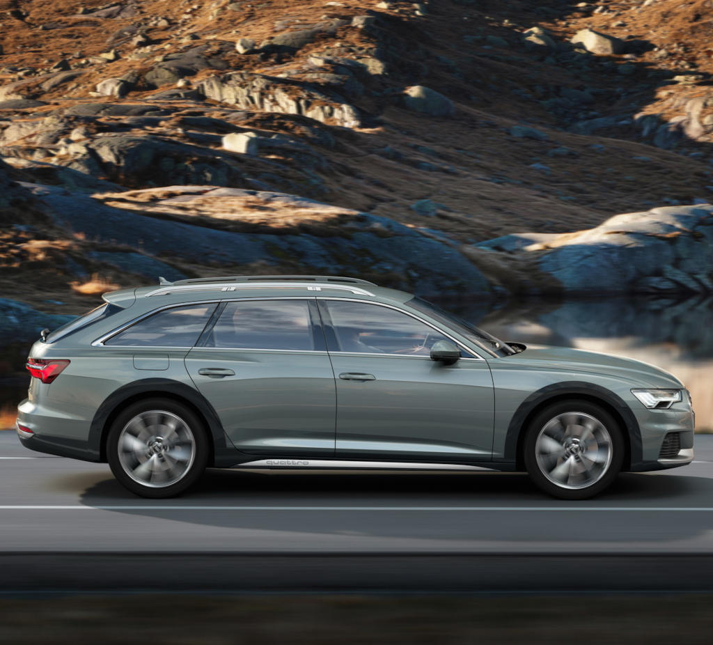 новая Audi A6 allroad quattro 2021 сбоку
