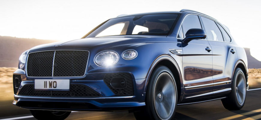 новый Bentley Bentayga Speed 2021 фото