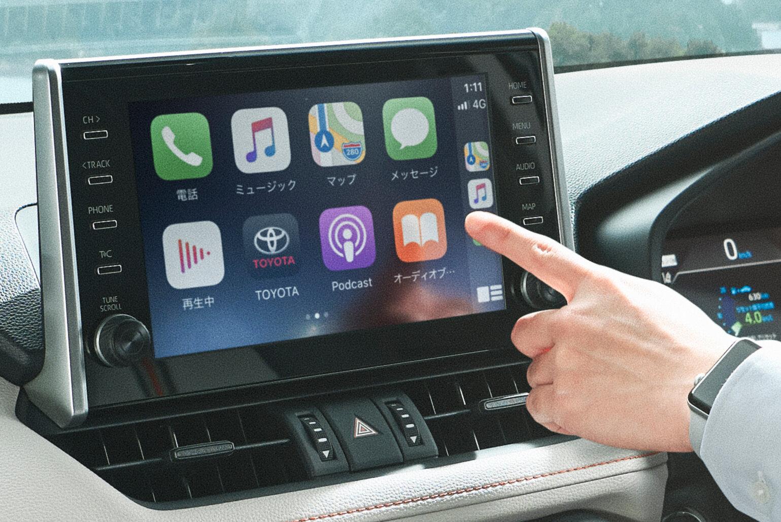 новый Toyota RAV4 2021 мультимедиасистема