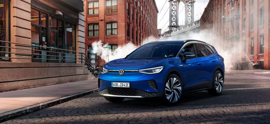 электромобиль Volkswagen ID.4 2021 фото