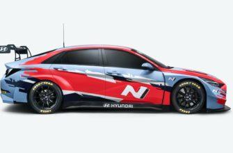 новая Hyundai Elantra N TCR 2021 сбоку