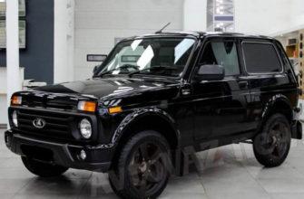 новая Lada 4x4 Black 2021 Нива фото
