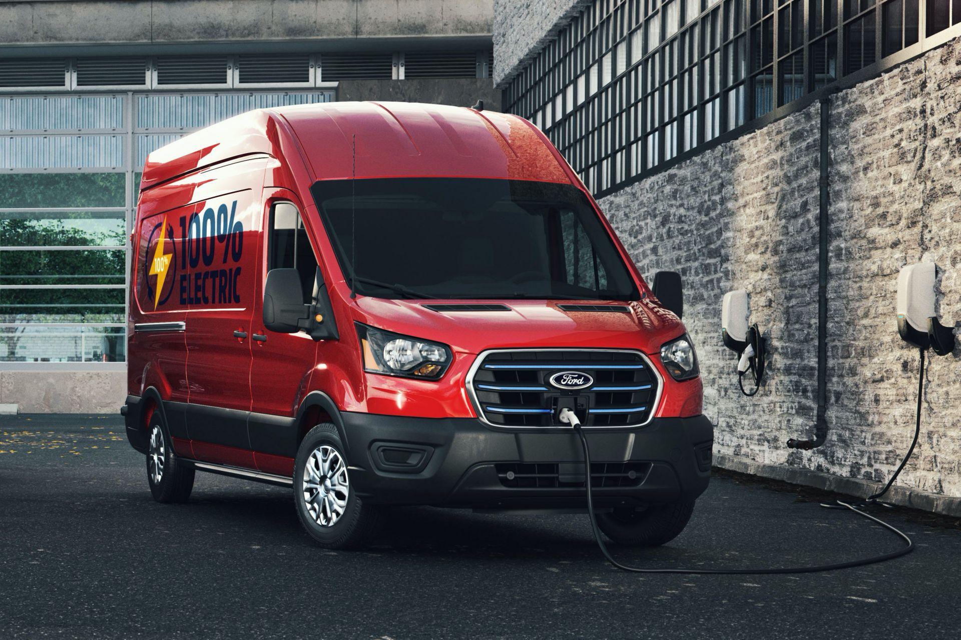 электрический Ford E-Transit 2022 фото