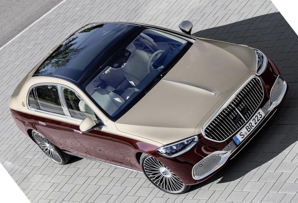 Mercedes-Maybach S-Class 2021 сверху