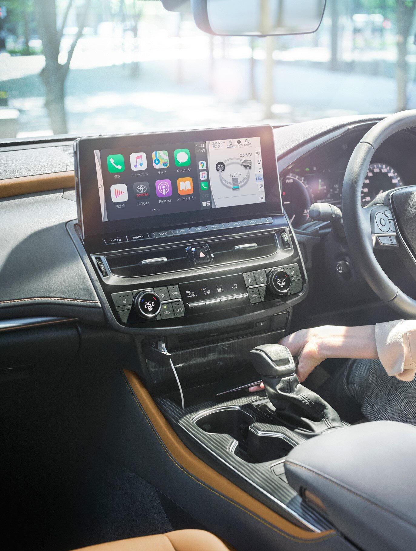 новая мультимедийная система Toyota Crown 2021
