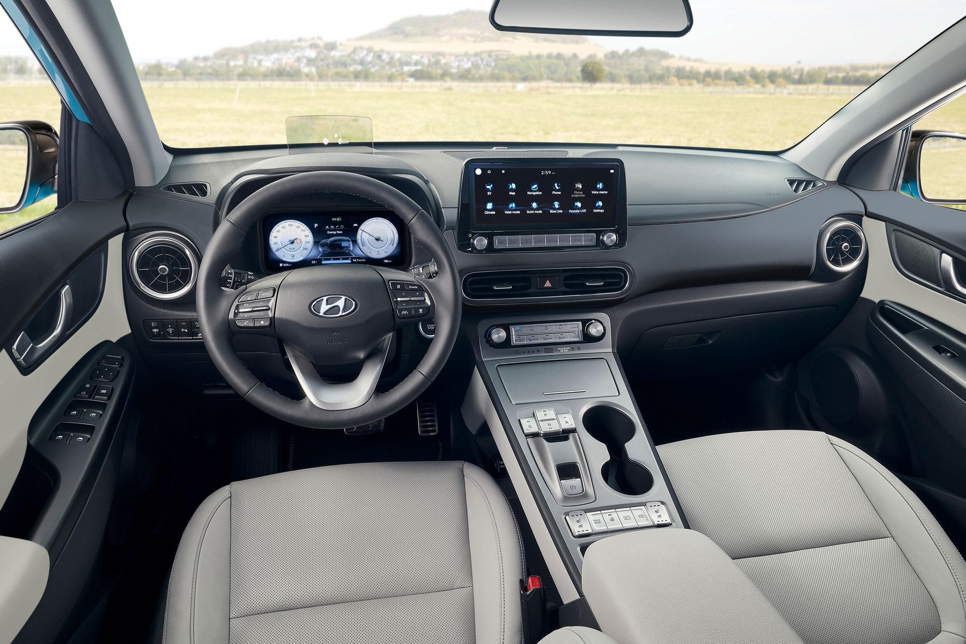 салон Hyundai Kona Electric 2021