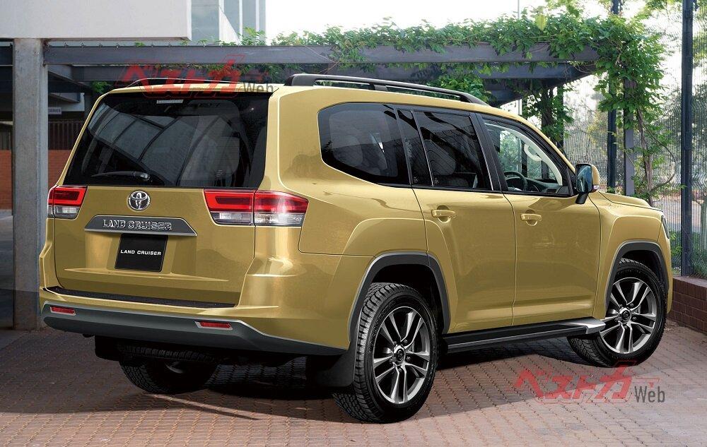 новый Toyota Land Cruiser 300 2022 задняя часть