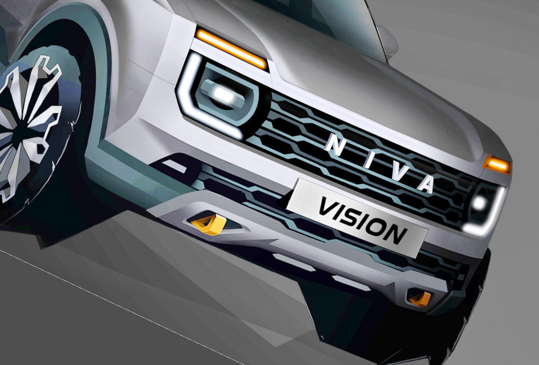 фары, решетка Lada Niva Vision 2024