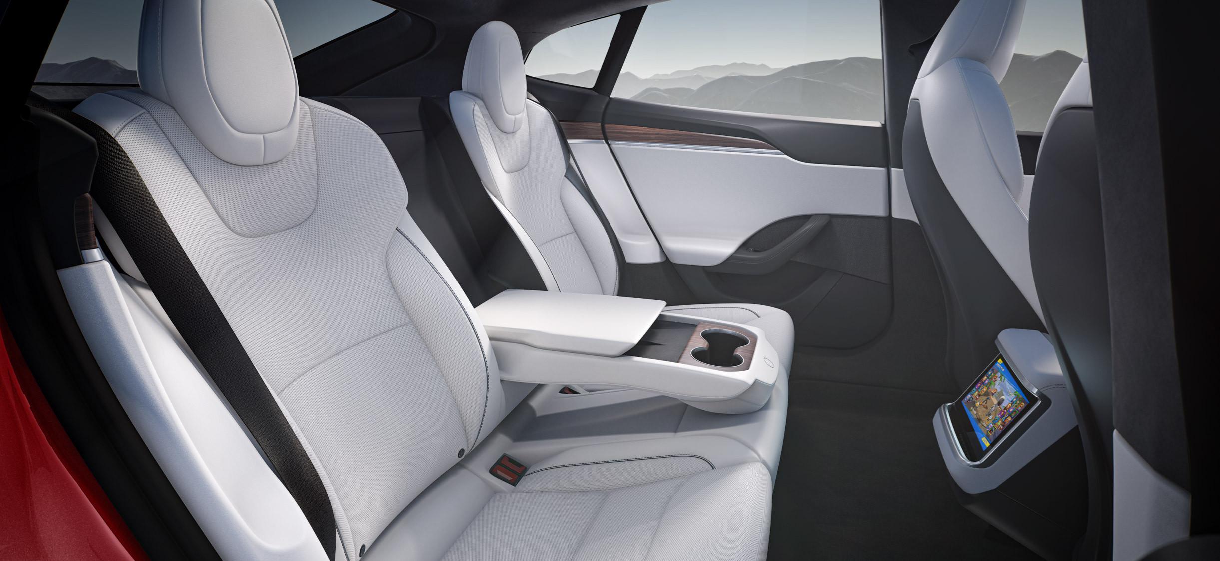 интерьер Tesla Model S 2021 - 2022