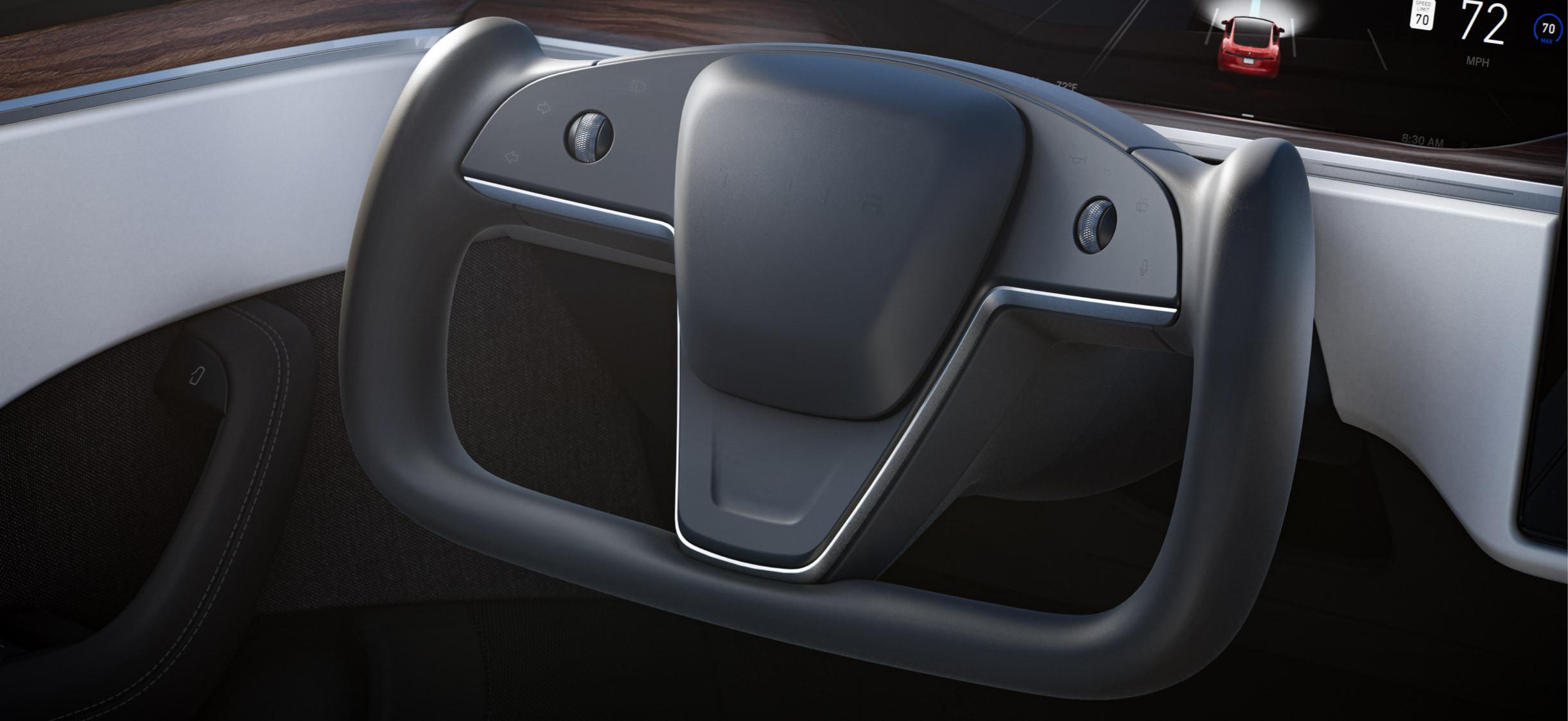 новый руль Tesla Model S 2021 - 2022