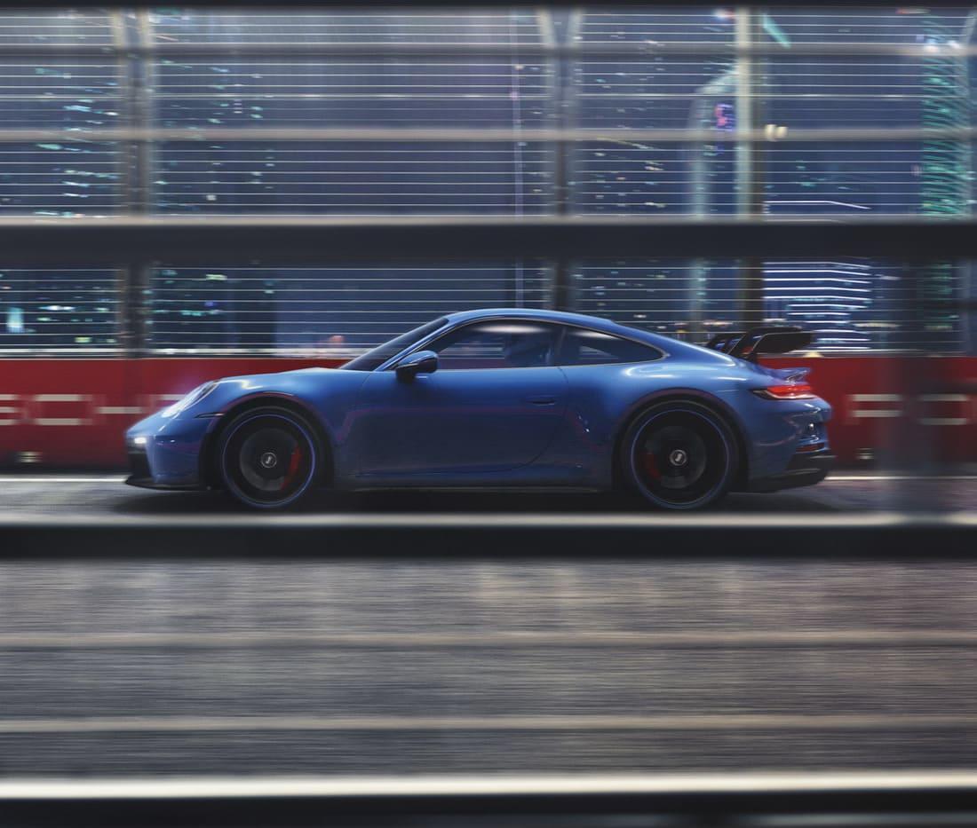 Porsche 911 GT3 2022 сбоку