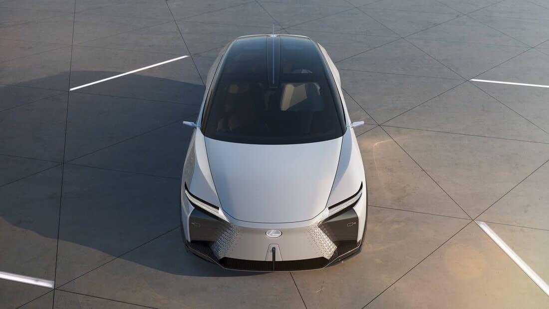 Lexus LF-Z Electrified сверху