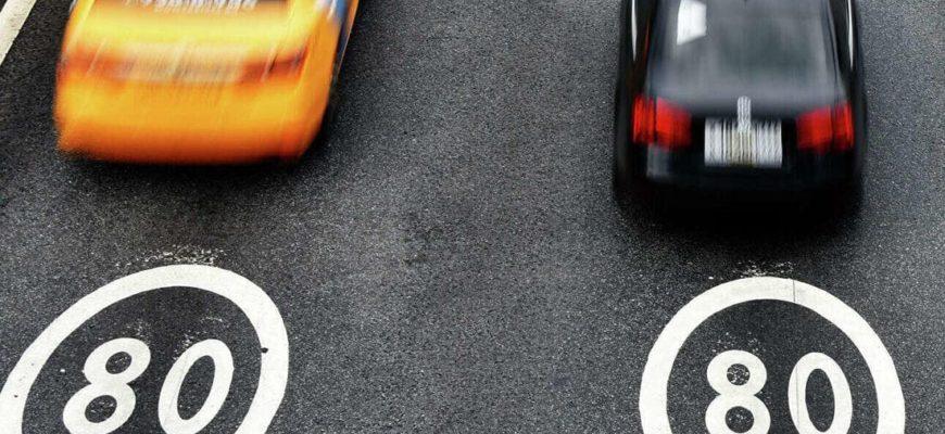 динамические дорожные знаки помогут в борьбе с превышением скорости