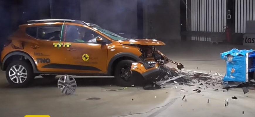 Краш-тест Renault Sandero 2022 года