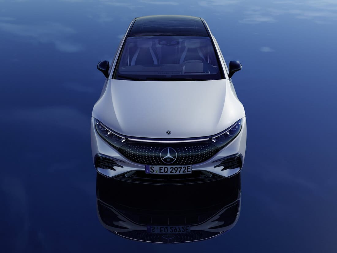 Mercedes-Benz EQS 2022 сверху