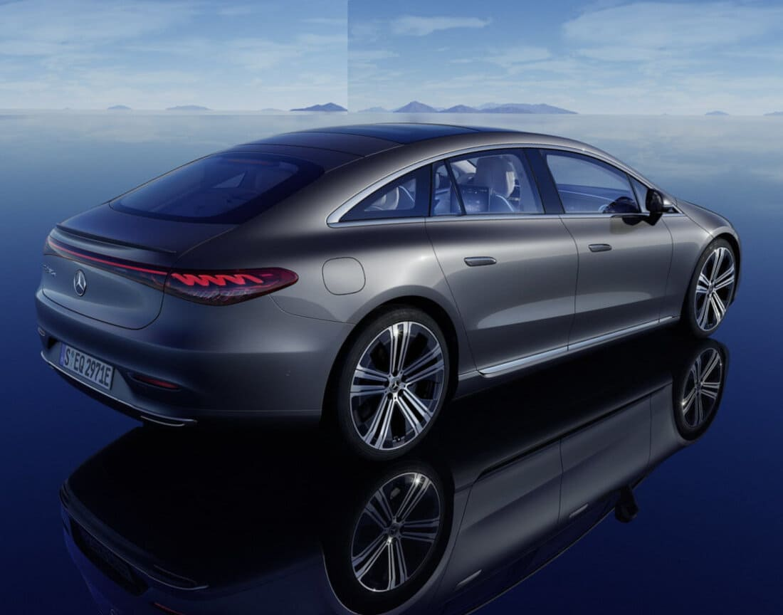 Mercedes-Benz EQS 2022 задние фонари