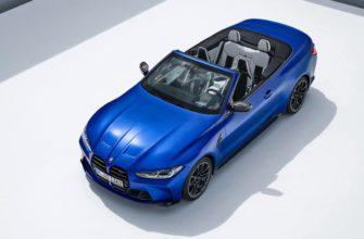 кабриолет BMW M4 2022 сверху