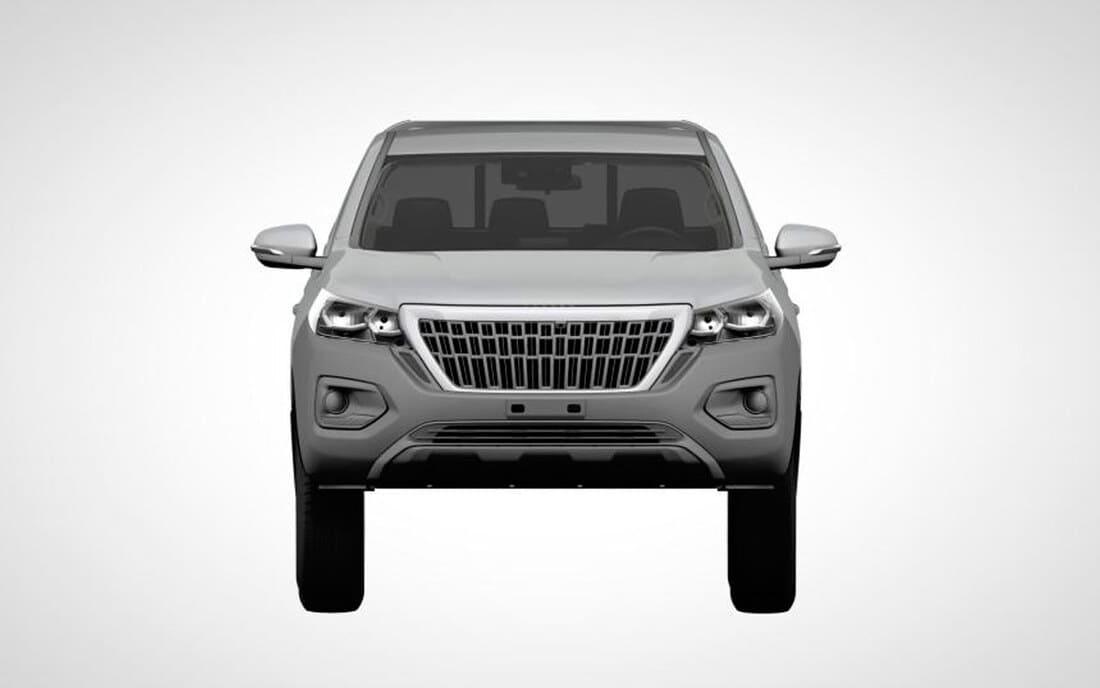 Новый пикап Peugeot Landtrek 2022 фары, решетка