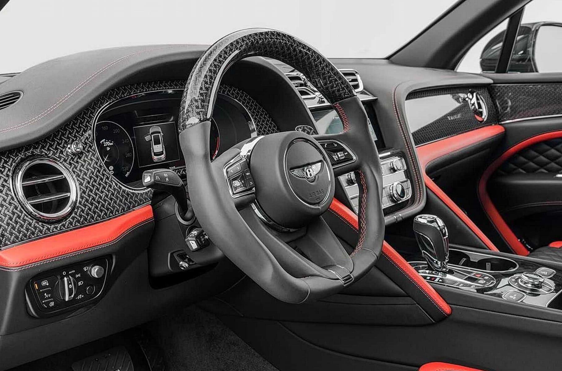 салон Bentley Bentayga 2021 от Mansory