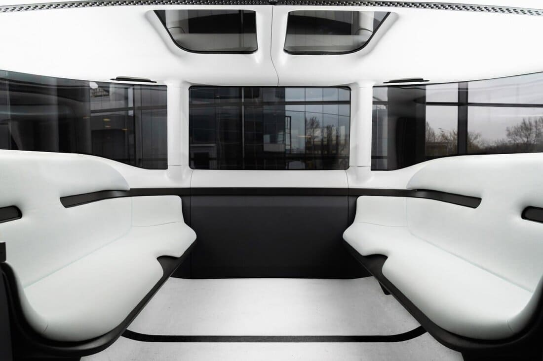 салон ФЛИП - концепт беспилотного электромобиля